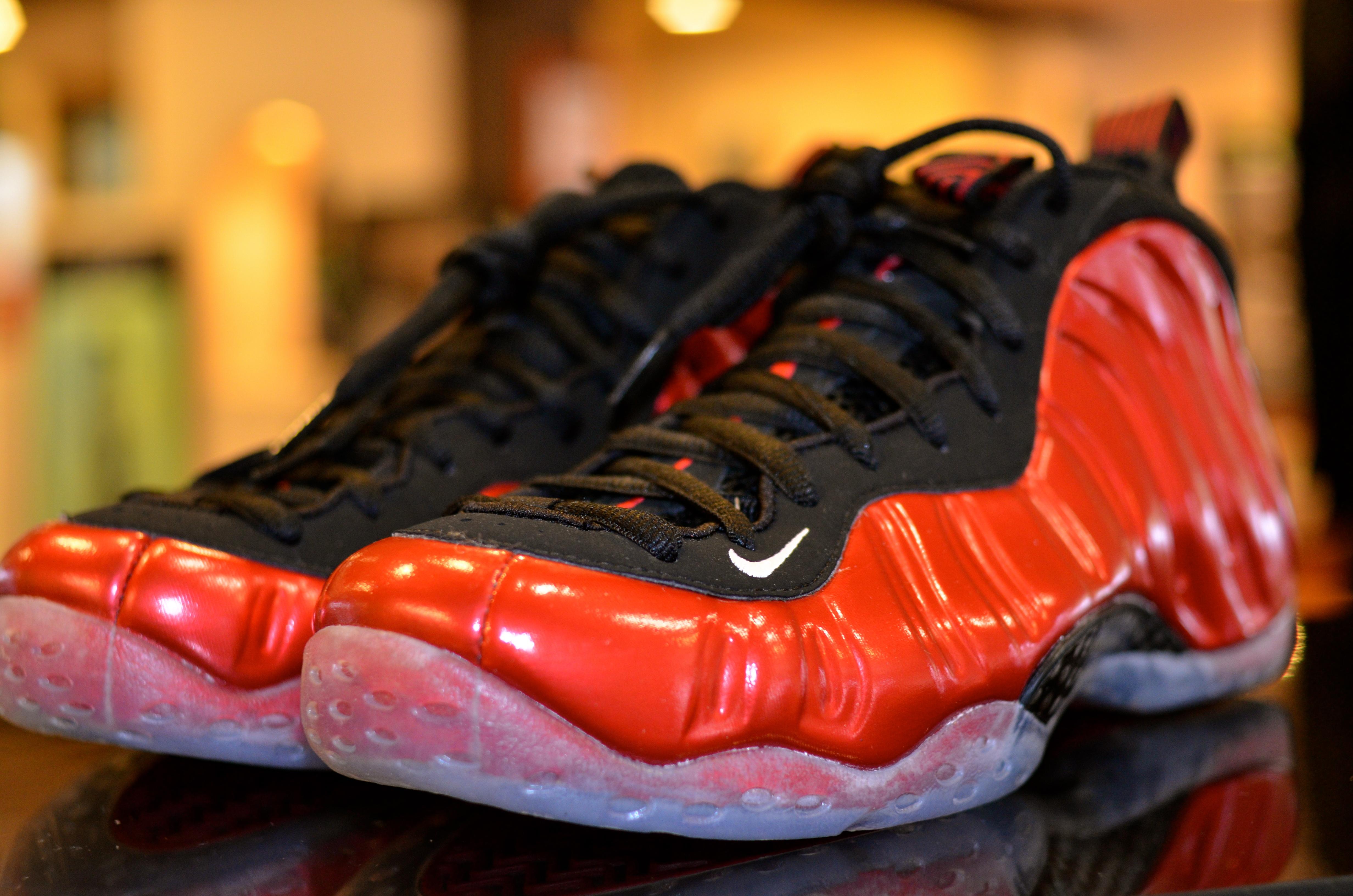 3d0a29ded1a90 Sole Sneaker Boutique  Nike Foamposite One Metallic Red (314996 610)